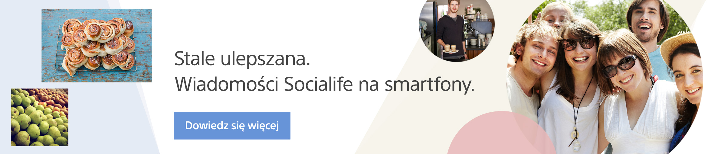 New design and faster performance.Socialife for Android smartphone.